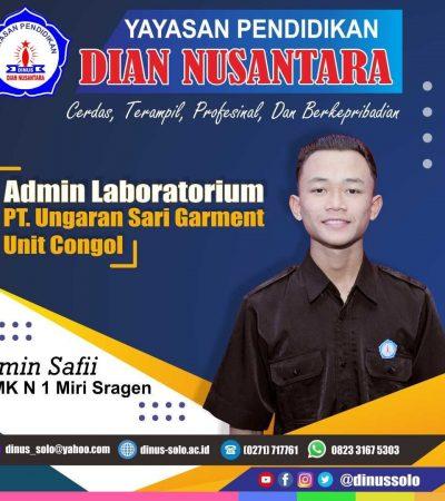 Success story – Amin Safii(Admin Laboratorium  –  PT Ungaran Sari Garment Unit congol)
