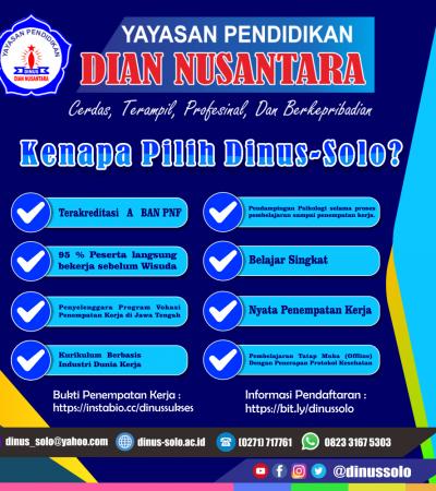 Masih Ragu dengan Lulusan Dian Nusantara Surakarta?