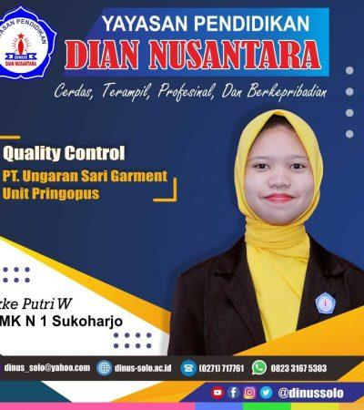 Success Story – Ikke Putri W (Quality Control –  PT Ungaran Sari Garment )