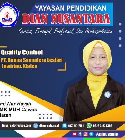 Success Story – Umi Nur Hayati (Quality Control-PT Buana Samudera Lestari)
