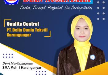 Success Story – Dewi Muvitaningrum (Quality Control – PT Delata Dunia Textile)