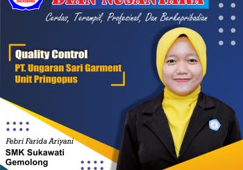 Success Story – Febri Farida Ariyani (Quality Control – PT. Ungaran Sari Garment Unit Pringopus )